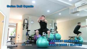 Stability Workout: Swiss Ball Squats