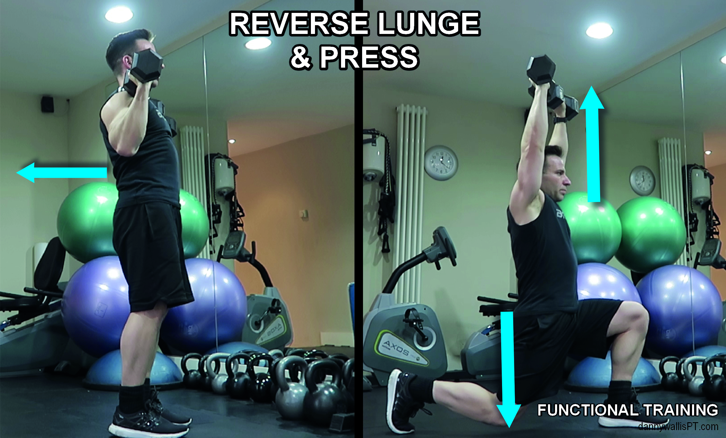 Reverse Lunge to press Functional Training Blog post