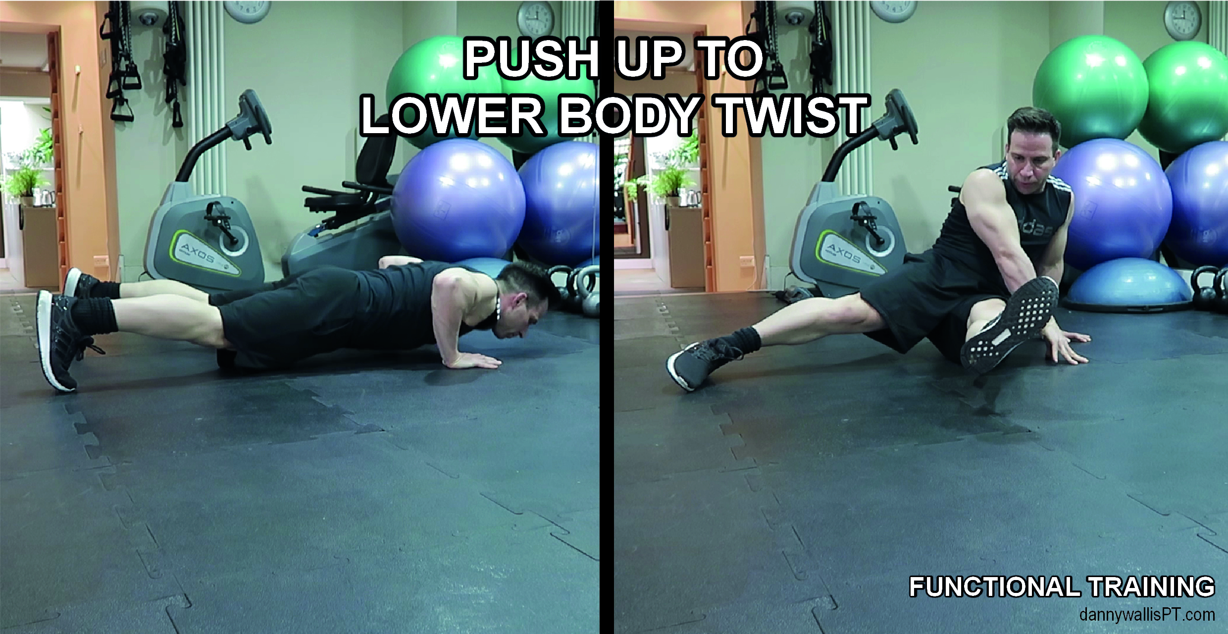 push up to lower body twist functional training blog post