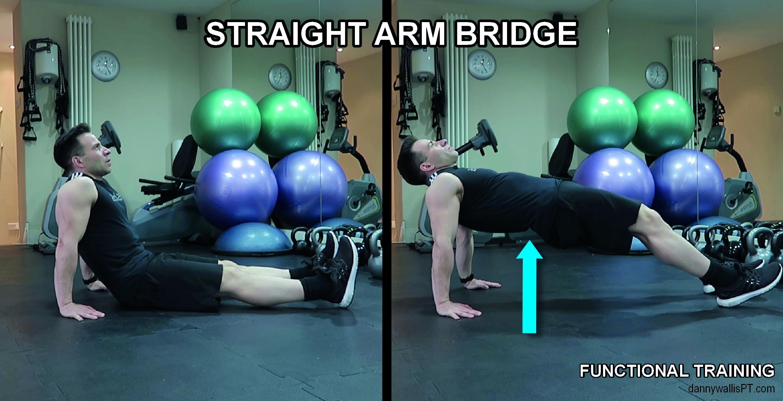 straight arm bridge: Functional Training Blog post