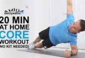 20 Minute Follow Along Core Workout Video: Build Stronger Abdominal Muscles at Home